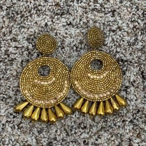 Gold Kenneth Jay Lane Earrings